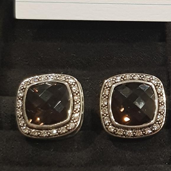 David Yurman Jewelry - David Yurman Albion Smoky Quartz Diamond Earrings
